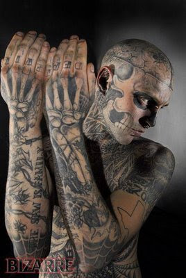 Zombie Tattoo Man 100