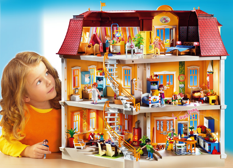5302 new large mansion emma j 39 s playmobil for Playmobil casa de lujo