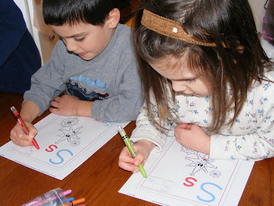 snowmen at work writing activity for kids
