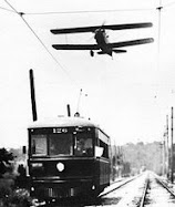 Not those slow old streetcars in traffic again... How about FLYING TROLLEYS?