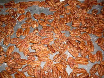 Salted Candied Pecans.