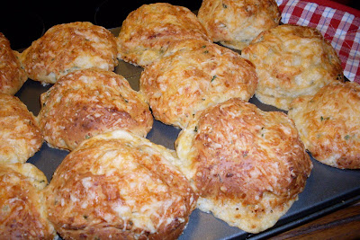 Garlic Cheese Dinner Buns, easy batter recipe, no kneading.