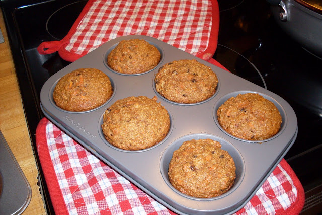 Just like Carrot Cake, Oat Bran Muffins