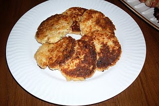 """Salmon Cakes with Bacon, a delicious """"pantry Ingredients"""" main dish to enjoy!"""