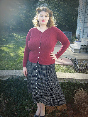 plus size vintage style thrift store finds via Va-Voom Vintage