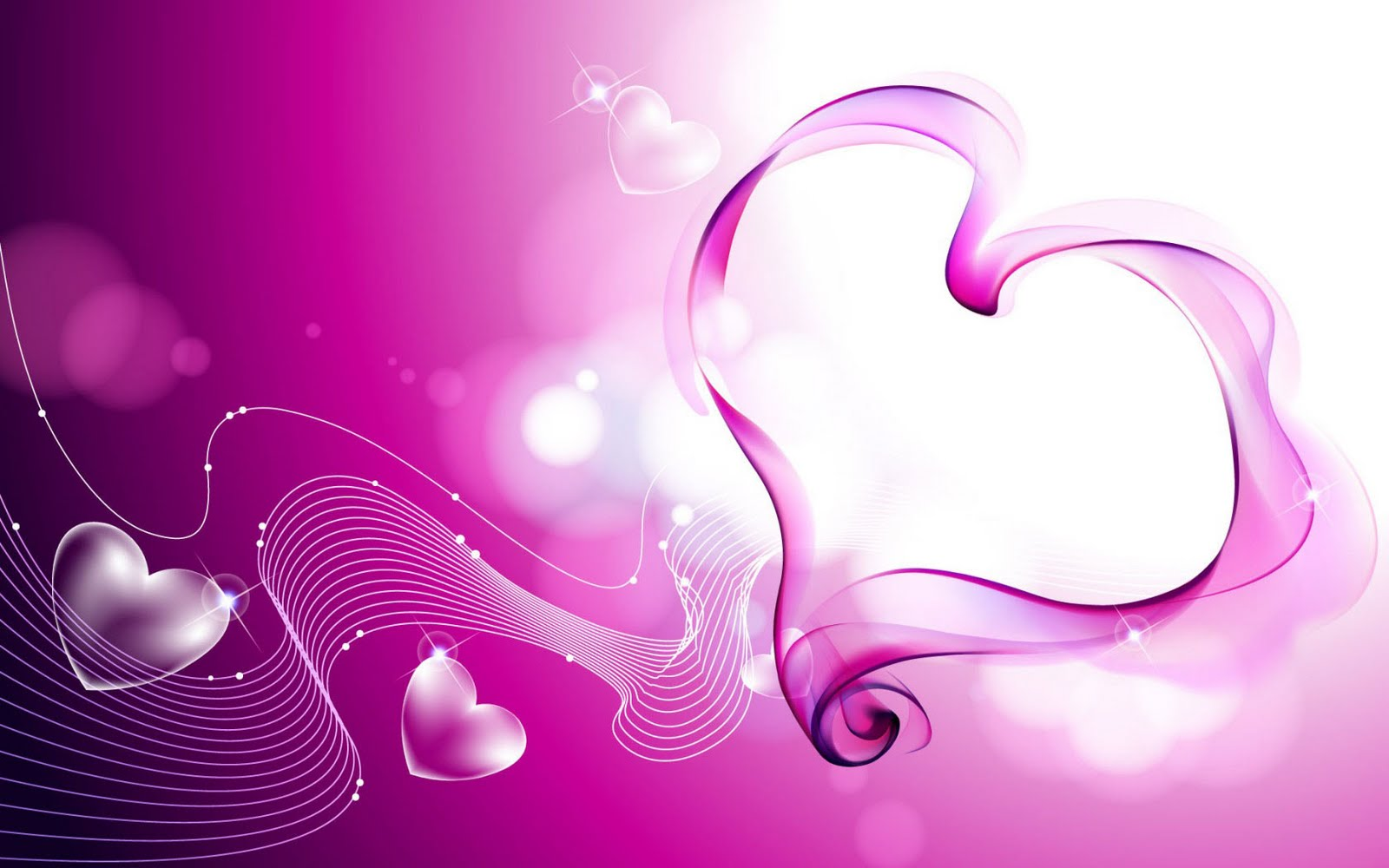 Pink Love Wallpaper: Pink Love Hearts Smoke Wallpaper