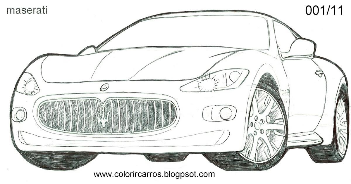 Maserati Gran Turismo Drawing Sketch Coloring Page