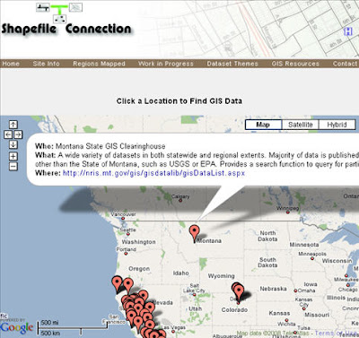 Shapefile Connection google map mashup connects users to GIS data Shpconnect