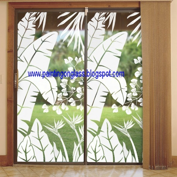 Sliding Glass Doors Can Be Decorated Painting On Glass