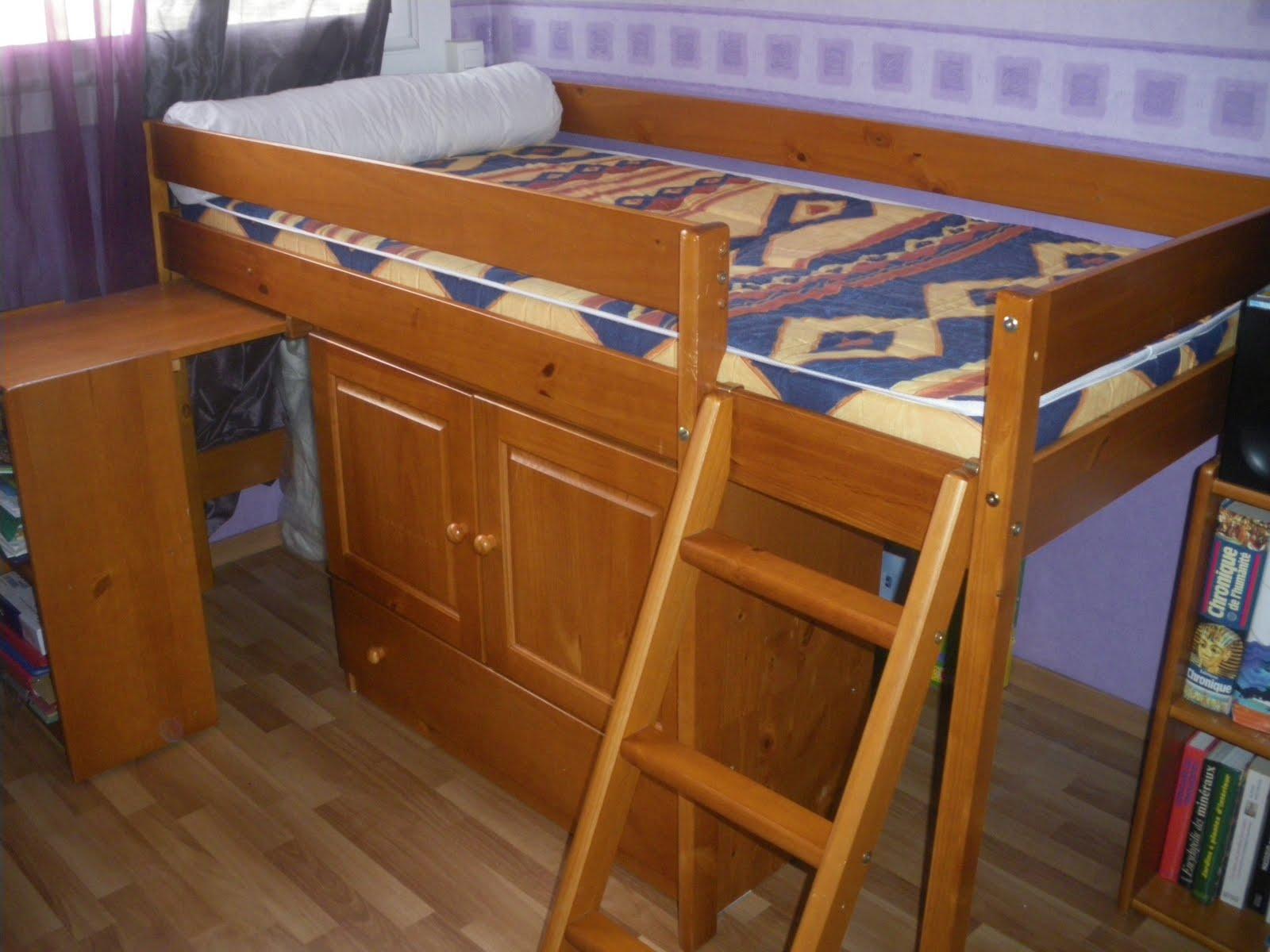 castelroc news vend combin lit bureau ling re pin massif. Black Bedroom Furniture Sets. Home Design Ideas