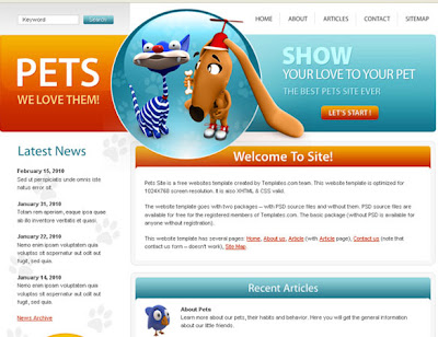 Free Professional PSD Web Templates