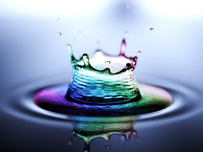 Rainbow Water Splash wallpaper