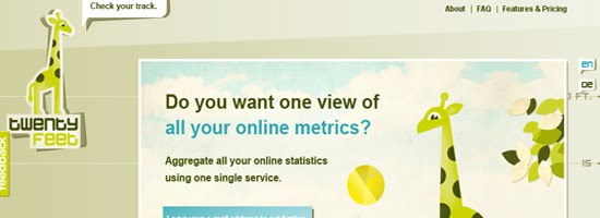 Twenty Feet web design