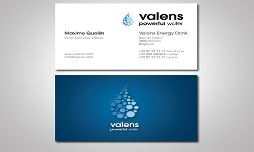 valens business card design