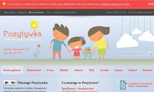 Pozytywka kid website design