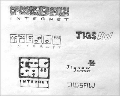 Logo design and card for Jigsaw Internet