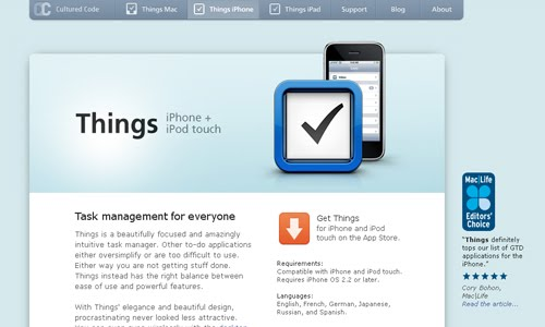 Things for iPhone and iPod touch
