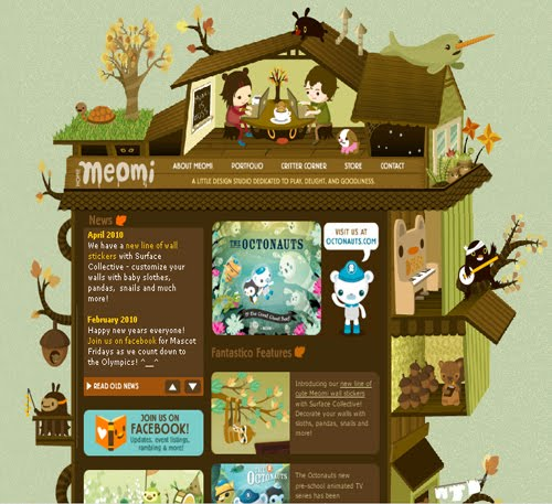 Incredible Illustrative Site Designs Inspired by Nature