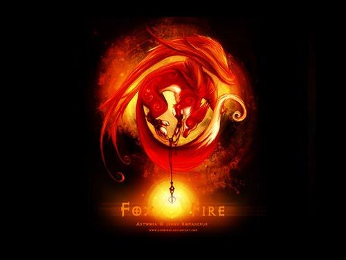 Fox Fire wallpaper