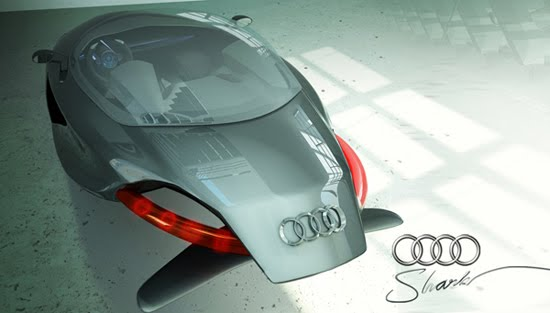 Audi Shark 3d concept car design