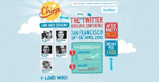 Chirp web design