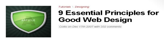 Essential Principles for Good Web Design