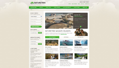 Naturetrek web design