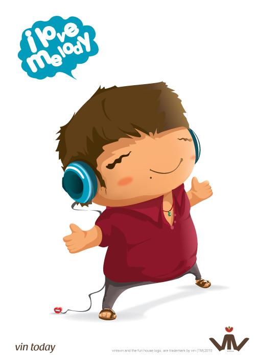 i love melody illustration