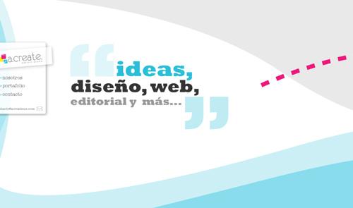 Acreatemx web design