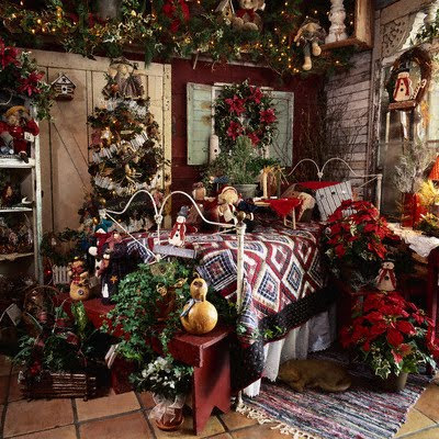 surprising christmas bedroom decorations ideas | Home Musings: Christmas Bedrooms