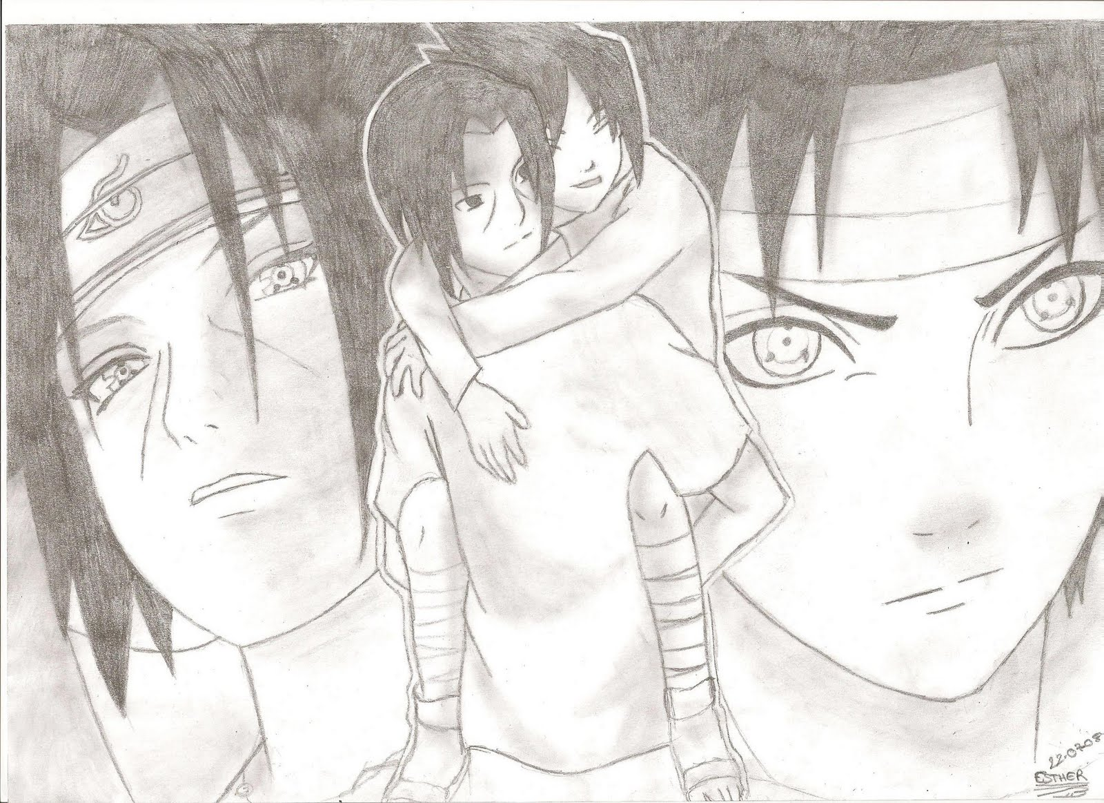 A Little Piece Of Heaven Dibujo Itachi Y Sasuke