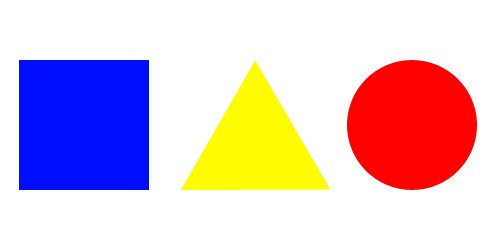 Red Square Green Circle And Blue Triangle 89