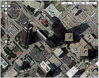 grattacieli, palazzi, storti, maps