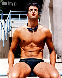 Ricardo Dupen in dark swimwear