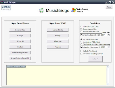 Music Bridge 2 for iTunes and WMP in Windows