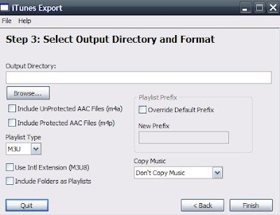 iTunes Export playlist in m3u format
