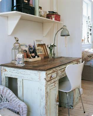 Ellmania tema skrivbord - Muebles decapados ...