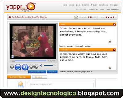 aprender inglês internet vídeos