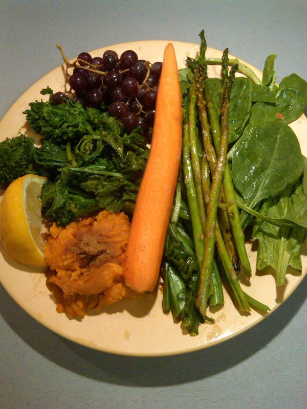 A Simple Healthy Dinner Plate