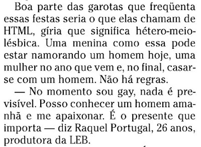 matéria publicada no caderno ELA do jornal O GLOBO de 26 de abril de 2008