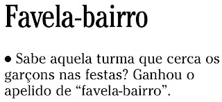nota publicada no SEGUNDO CADERNO de O GLOBO de 19 de dezembro de 2008