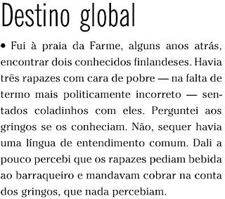 coluna publicada no caderno ELA de O GLOBO de 05 de setembro de 2009