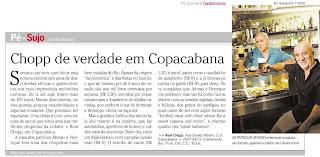 matéria publicada na revista RIO SHOW, de O GLOBO, de 30 de outubro de 2009