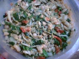 salata de post cu legume, boabe de fasole alba
