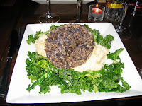 Haggis at a Burns Night dinner in London
