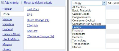 Research Stocks with Google Finance Stock Screener: Nice