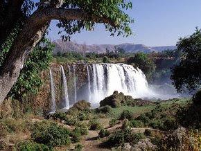 The blue nile river ethiopia sudan