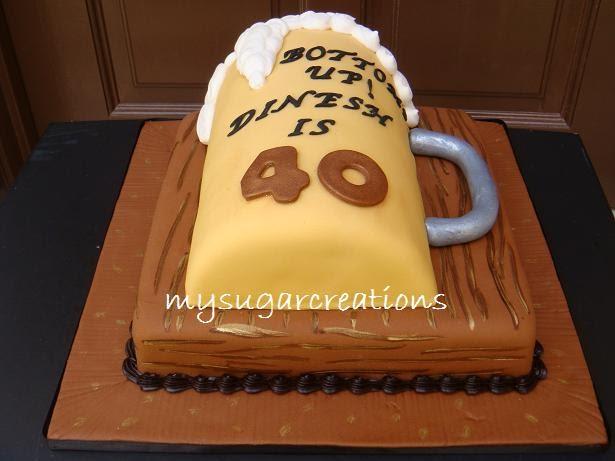My Sugar Creations 001943746 M Beer Mug Cake Dinesh