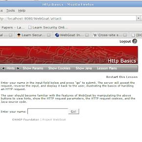 WebGoat 5 0 on Ubuntu Carnal0wnage - Attack Research Blog