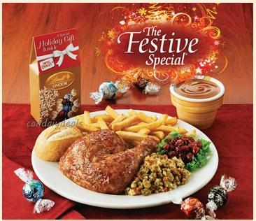swiss chalet festive meal deal